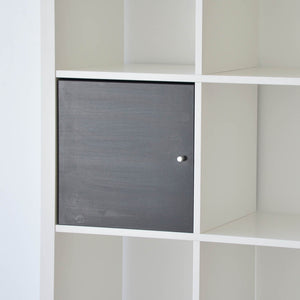 IKEA Kallax Insert with Door, Black/Brown