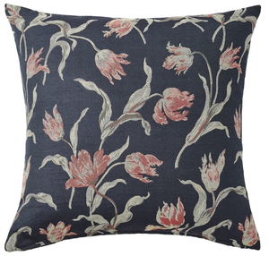 IKEA Ålandsrot Cushion, Dark Blue/Floral 50x50 cm