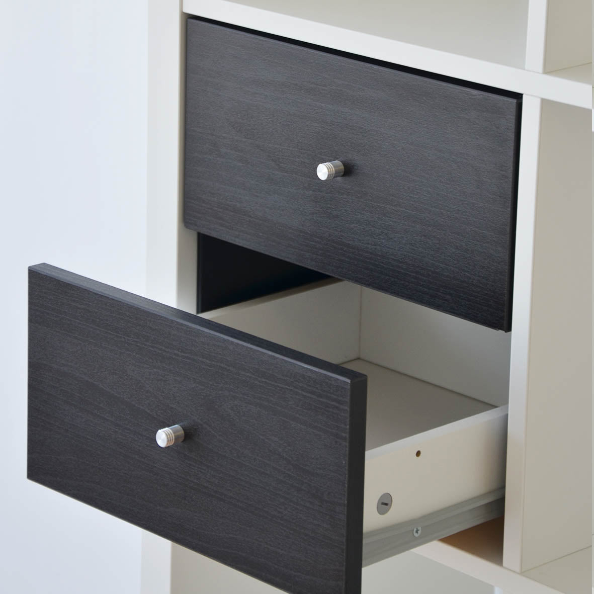 IKEA Kallax Insert with 2 Drawers, Black/Brown
