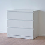 IKEA MALM 3-drawer Chest, 80x48x78cm, White
