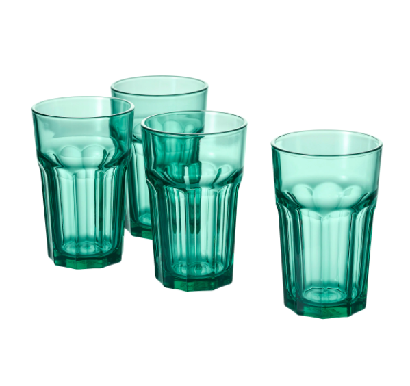 IKEA Pokal Drinking Glass, 35cl, Green