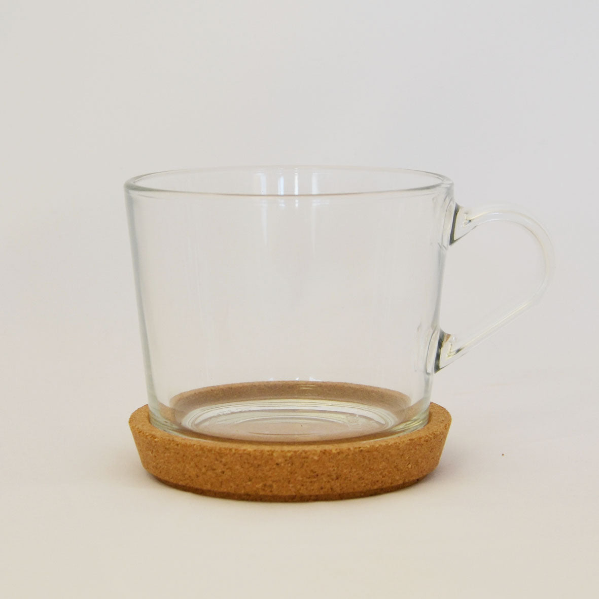 IKEA 365+ Glass Tea Cup With Cork Saucer