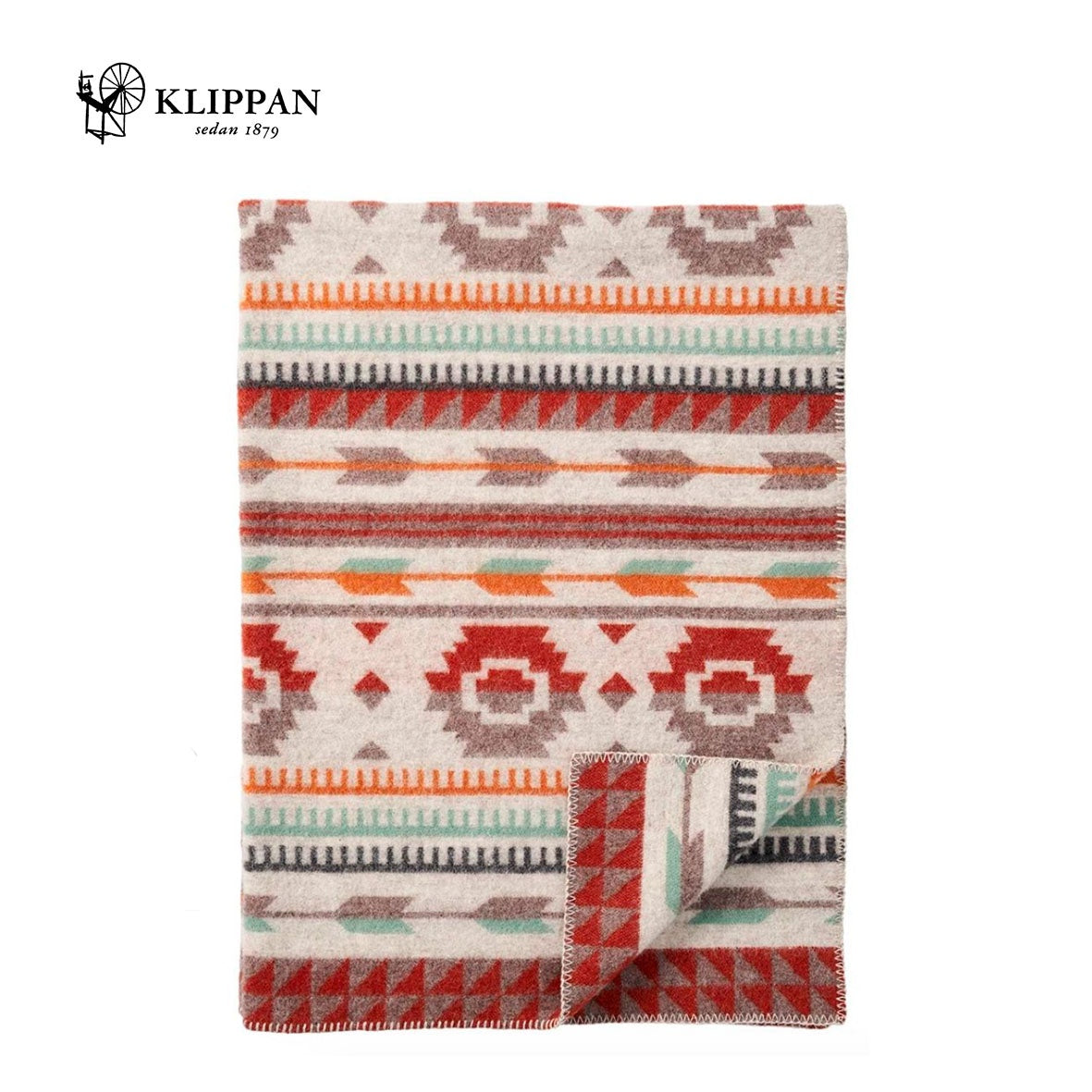 KLIPPAN Arrow Woollen Blanket, 130x180cm