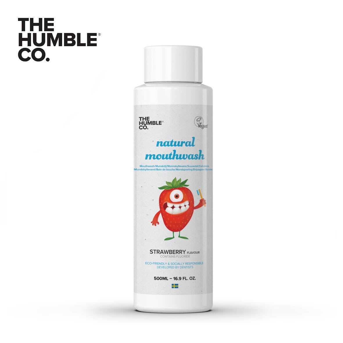THE HUMBLE CO. Kids Mouthwash Strawberry 500ml with Flouride