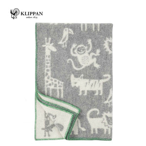KLIPPAN Jungle Woollen Cot Blanket, 90x130cm