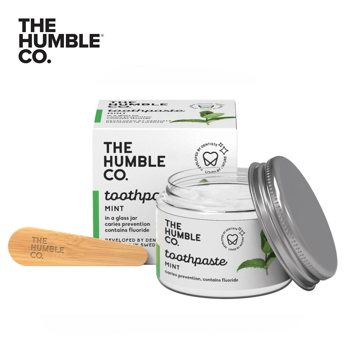 THE HUMBLE CO. Toothpaste in Glass Jar 50ml with Flouride