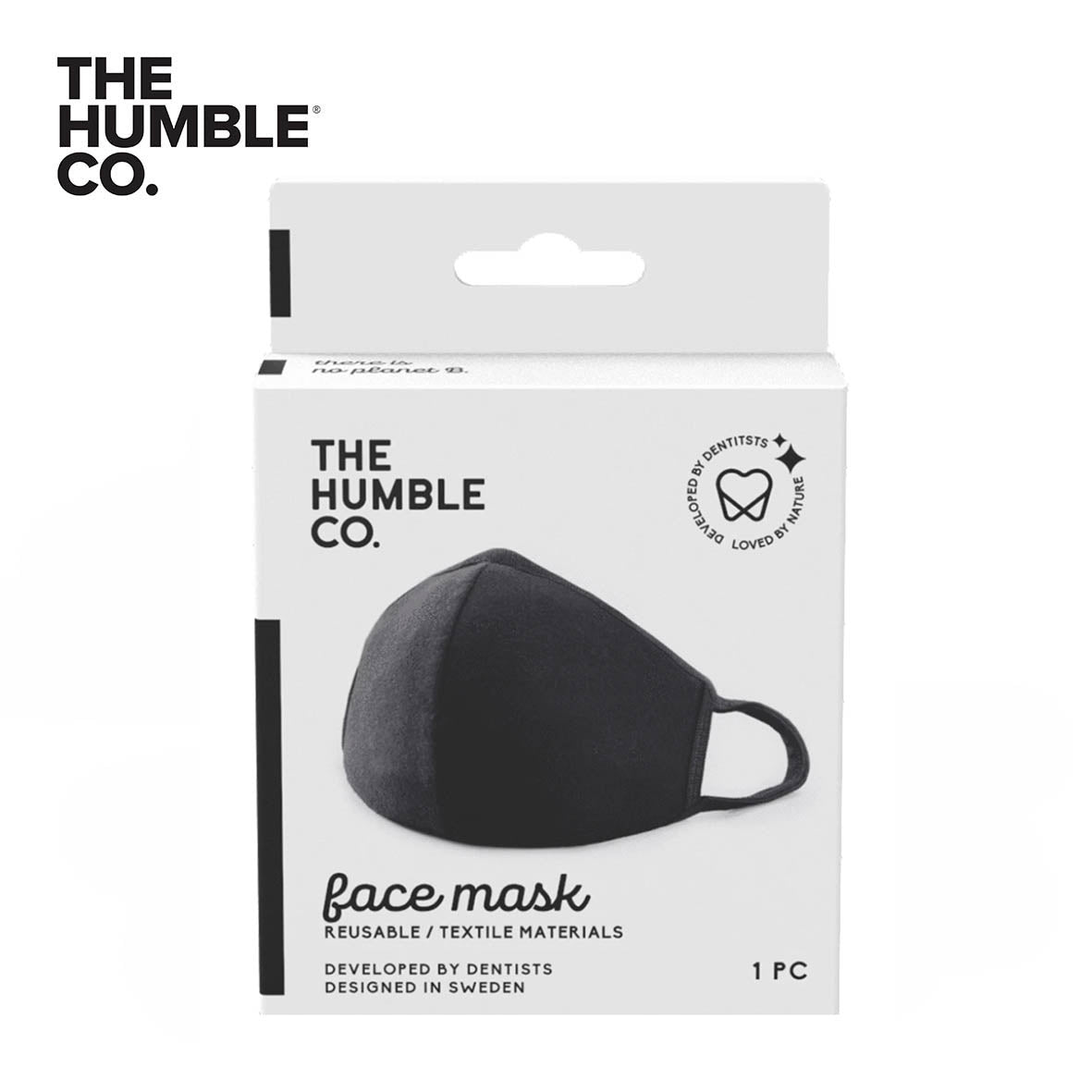THE HUMBLE & CO Reusable Face Mask, Black