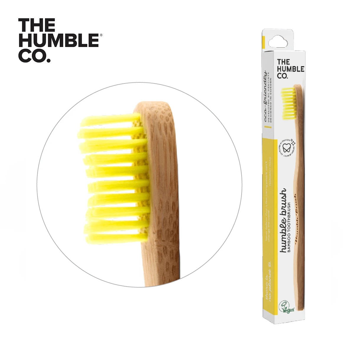 HUMBLE BRUSH Bamboo Toothbrush Adults, Medium