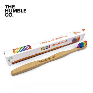 THE HUMBLE CO. Bamboo Toothbrush Adults, Soft, PROUD Limited Edition