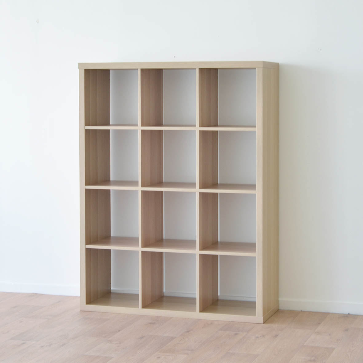 IKEA Kallax 3x4 Shelving Unit, 112x147cm, White Stained Oak
