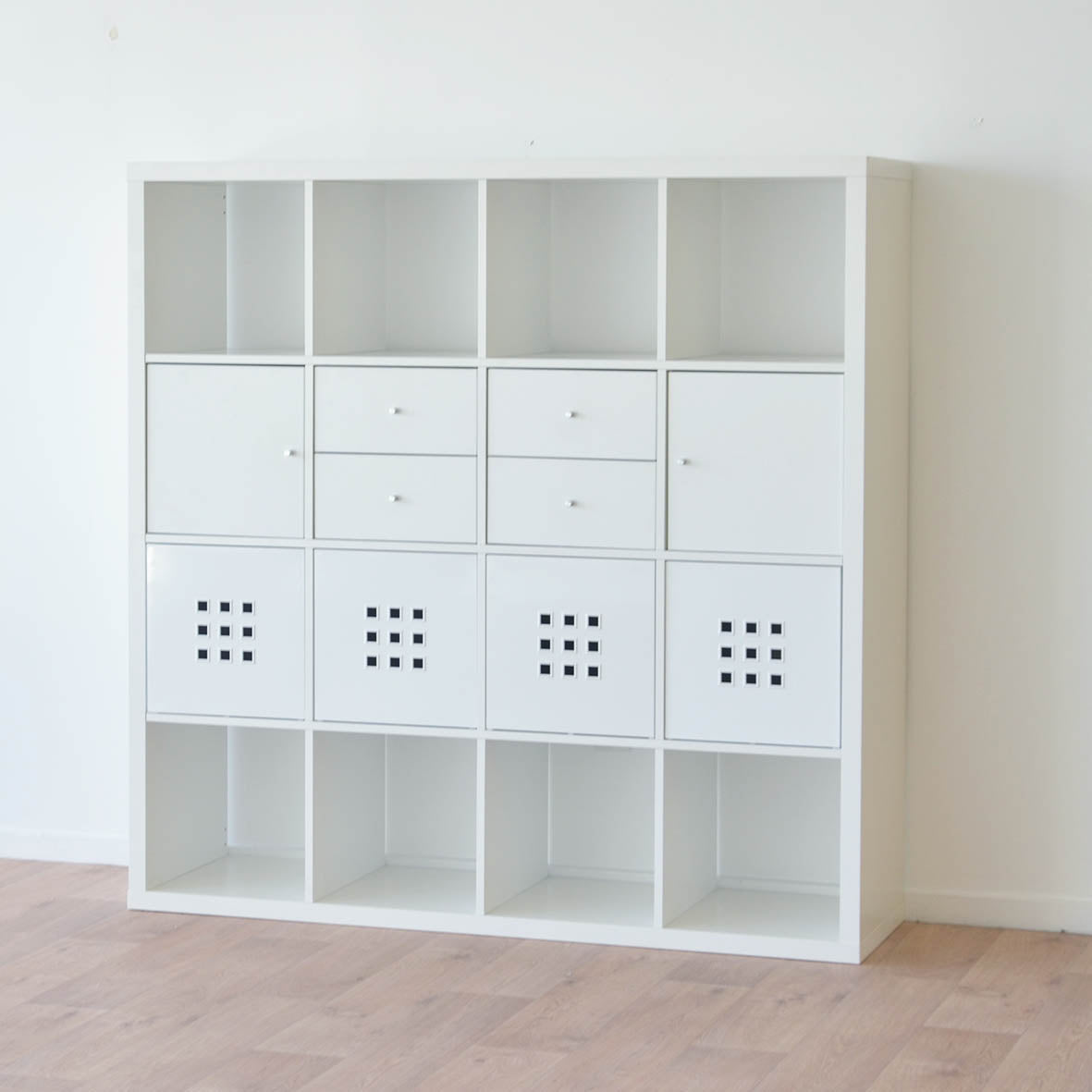 IKEA Kallax 4x4 Shelving unit, 147x147cm, White