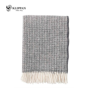 KLIPPAN Line Woollen Throw, 130x200cm