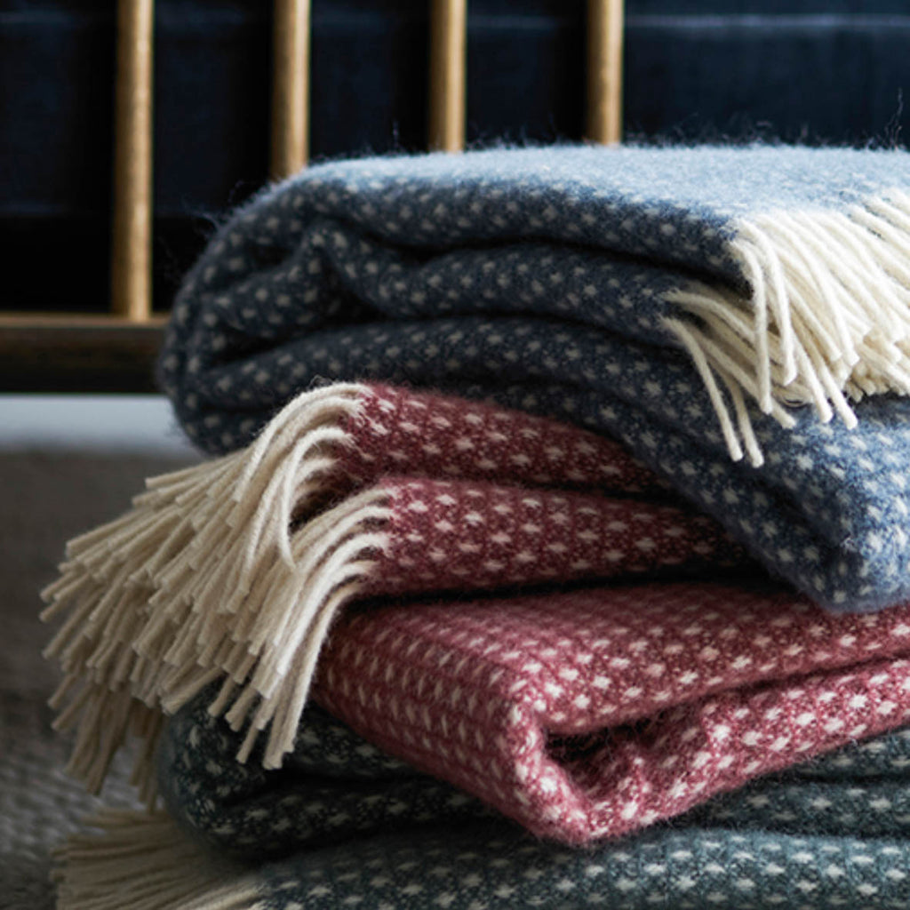 KLIPPAN Knut Woollen Throw, 130x200cm