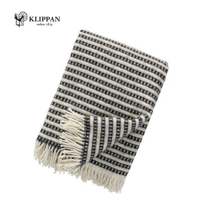 KLIPPAN Olle Woollen Throw, 130x200cm