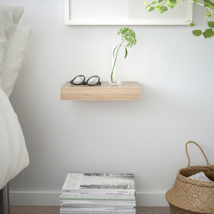 IKEA Lack Floating Shelf 30x26cm, White Stained Oak