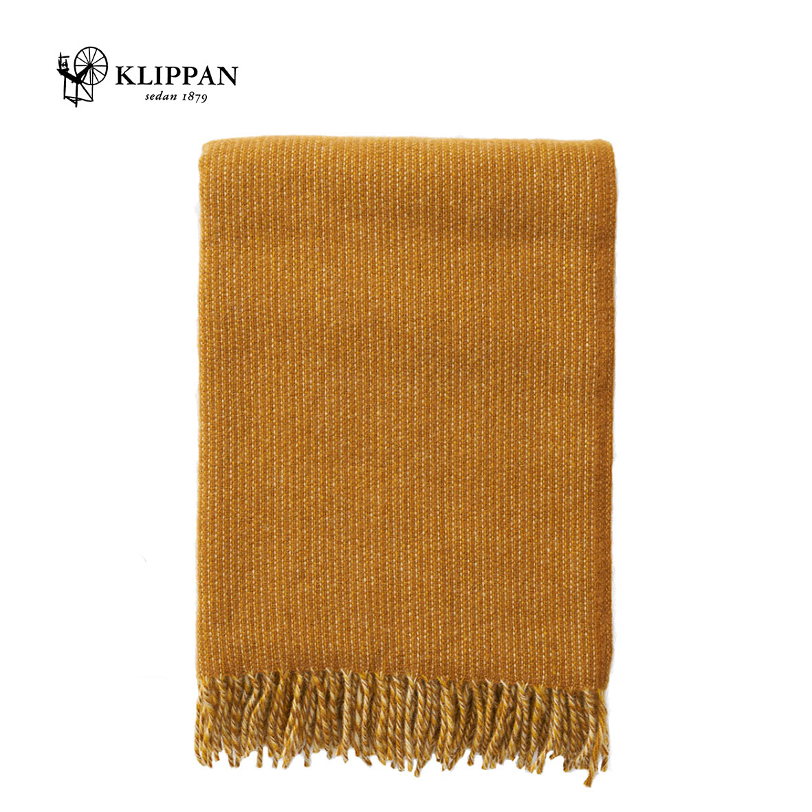 KLIPPAN Shimmer Woollen Throw, 130x200cm