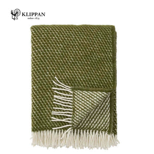 KLIPPAN Velvet Woollen Throw, 130x200cm
