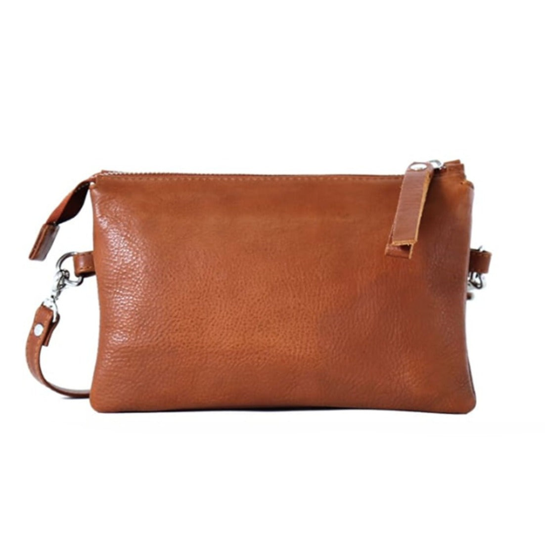 LUMI Venla All-In-One Leather Pouch, Cognac