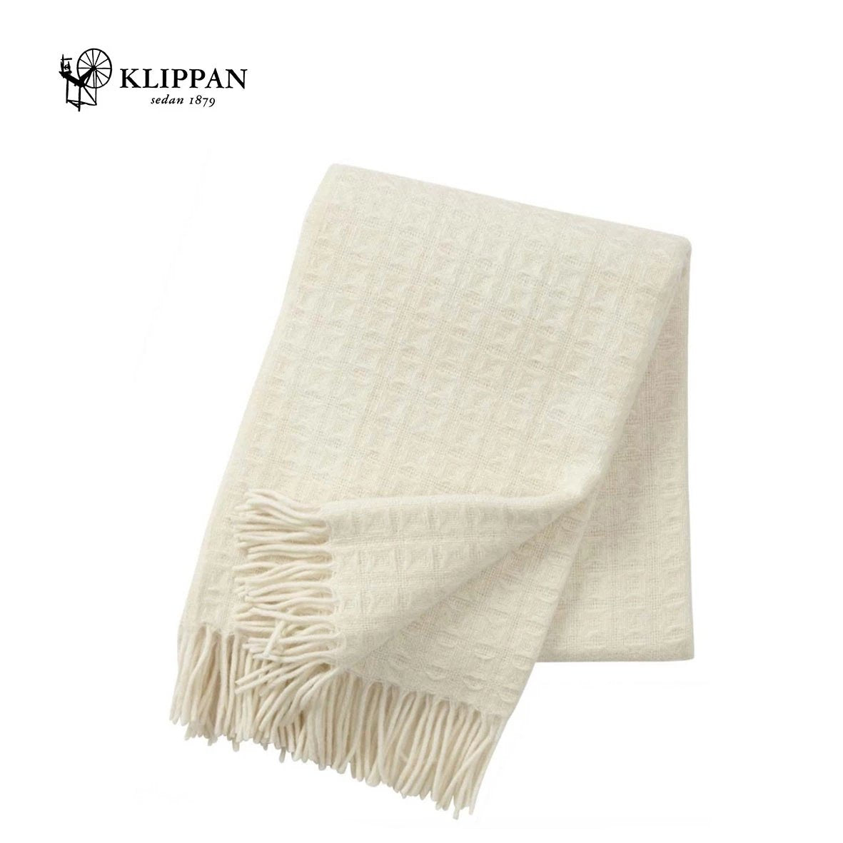 KLIPPAN Twist Woollen Throw 130x200cm