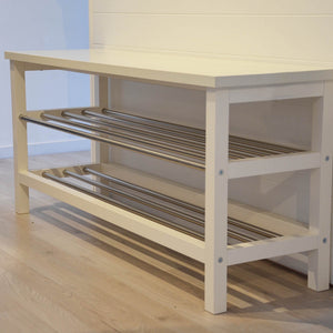 Miraculous Ikea Tjusig Shoe Storage Bench 108X34X50Cm White Caraccident5 Cool Chair Designs And Ideas Caraccident5Info