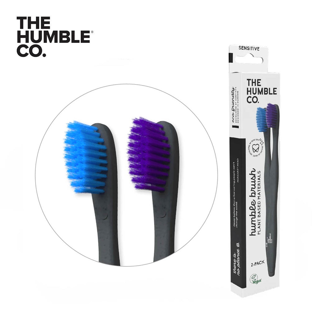 THE HUMBLE CO. Plant Based Toothbrush Adults 2-Pack, Soft
