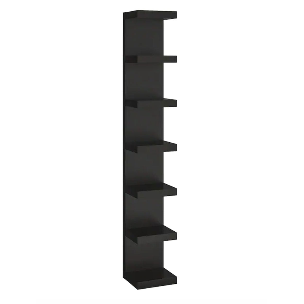 IKEA Lack Wall Shelf Unit 30x190cm, Black/Brown