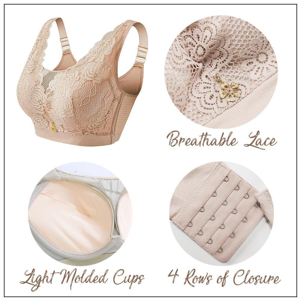 Full Support Wireless Lace Bra