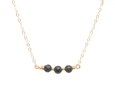 Gold Filled Lava Stone Aromatherapy Necklace ?id=2931991281707