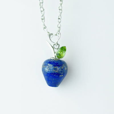holiday harvest lapis healing gemstones apple pendant