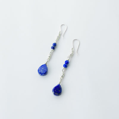midnight stars lapis healing gemstones drop earrings