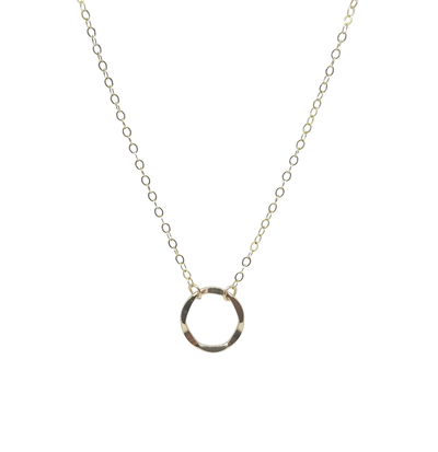 Gold circle short necklace by kind karma ?id=6729282486315