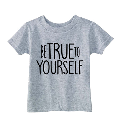 Be True to Yourself T-Shirt - Heather Grey - THE CHEVRON HEART