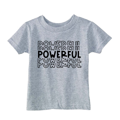 Powerful T-Shirt - Heather Grey - THE CHEVRON HEART