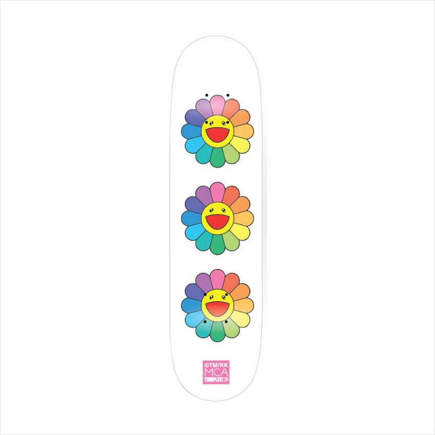 Takashi Murakami - 3 Flower Skateboard  Multicolor