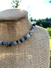 Load image into Gallery viewer, Tourmalinated Quartz Gemstone Chip Necklace - Meg's Mystics