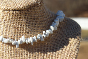 Howlite Gemstone Chip Necklace - Meg's Mystics