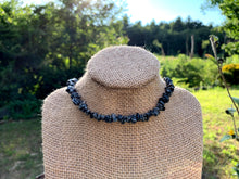 Load image into Gallery viewer, Snowflake Obsidian Gemstone Chip Necklace - Meg's Mystics