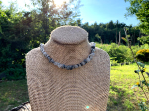 Tourmalinated Quartz Gemstone Chip Necklace - Meg's Mystics