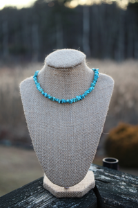 Turquoise Gemstone Chip Necklace - Meg's Mystics