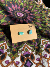 Load image into Gallery viewer, Amazonite Stud Earrings - Meg's Mystics