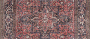 MINA | Heriz Design, Luxurious Oriental Rug, Persian Pattern, Antique Hand knotted looks, Living room decor, Medallion, Hariz Distressed Red