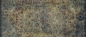 RENÉ | Oriental Persian Pattern, Vintage looks, Hand-knotted texture, Home decor, Modern, Floral, Luxury, Living room rug, Teal, Green, Rugs