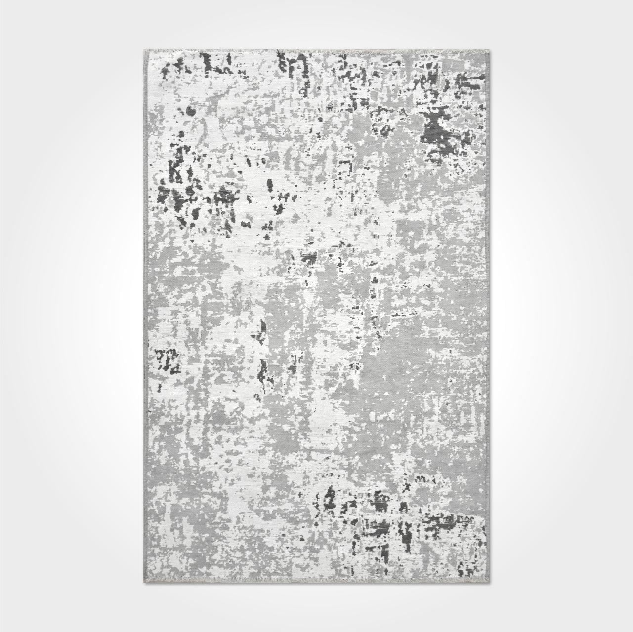 AICHA5 | Reversible Washable Vintage Gray Rug, Double Sided, Flatweave Modern Runner & Area Rug, Light gray, White, Luxurious Kilim Rugs