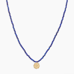 Open image in slideshow, Power Gemstone Mantra Necklace