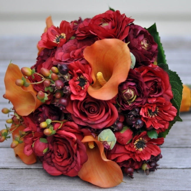 Vibrant Bridal Bouquet