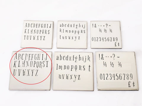 Bigelow Rules - 5mm Uppercase