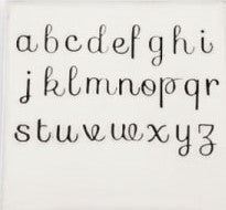 Sofia Cursive - 3.5mm Lowercase