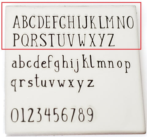 Canterbury - 2.5mm Uppercase