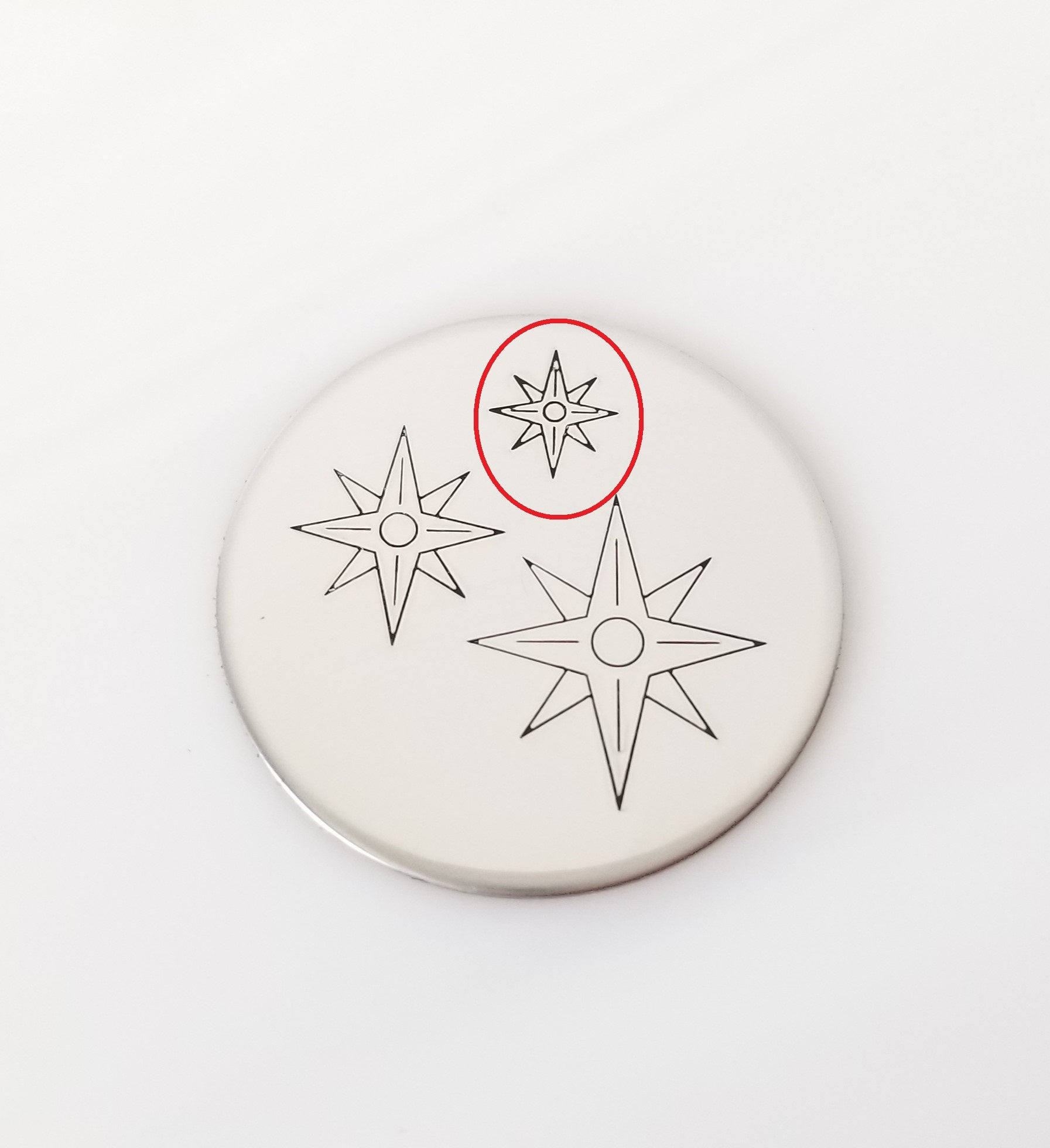Compass without Directional Lettering
