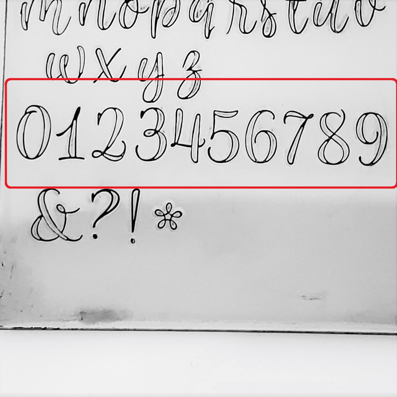 Limon Script Outline - 6.5mm Numbers